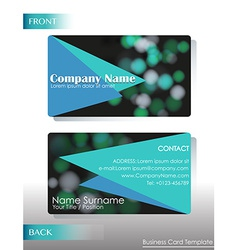 A company contact card vector
