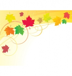 Abstract background with autumn leaves vector