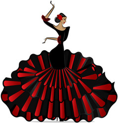 Abstract flamenro girl in dance vector