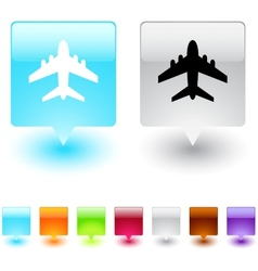 Aircraft square button vector