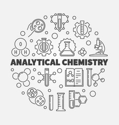 Analytical chemistry concept outline round vector
