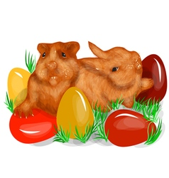 animal fun easter vector image