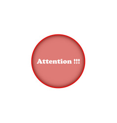 Attention thematic icons on white background vector