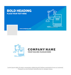 blue business logo template for education vector image