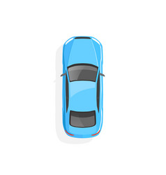 blue car top view vector image