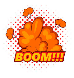 Boom comic book explosion icon pop art style vector