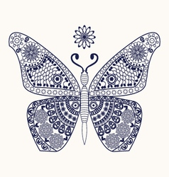 butterfly for coloring page vector image