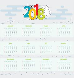 Calendar 2018 year - 2018 vector