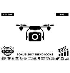Camera Drone Flat Icon With 2017 Bonus Trend vector