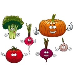 Cartoon isolated funny vegetable characters vector image