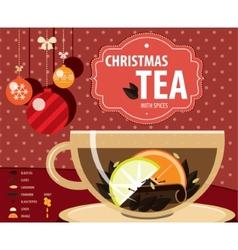 Christmas tea vector