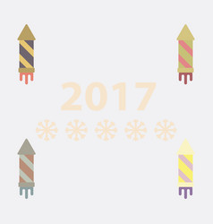 Collection of new year firework vector