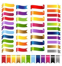 Color Set Web Ribbons vector image