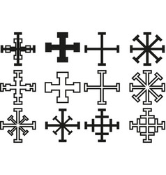 cross set cross vector image