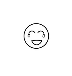 crying smile emotion icon vector image