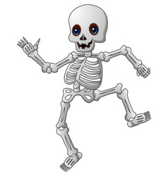 Cute skeleton cartoon vector