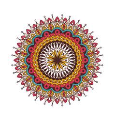 decorative arabic round lace ornate mandala vector image