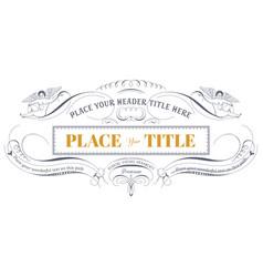 decorative vintage label vector image