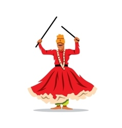 Desert Festival Indian Dancer Cartoon vector image
