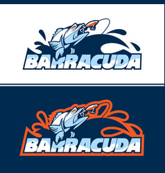 dynamic fish logo in pursuit bait vector image