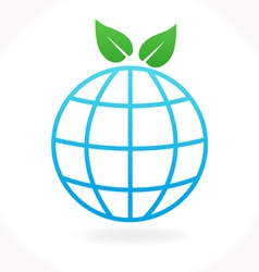 Ecology nature and environment icon vector image