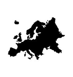 europe map silhouette vector image