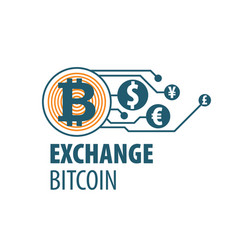 exchange bitcoin for money vector image