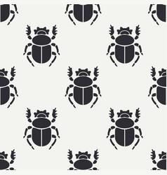Flat line seamless pattern wildlife fauna vector