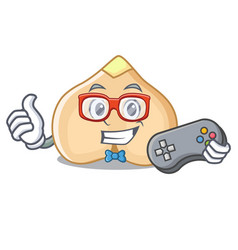 Gamer chickpeas mascot cartoon style vector