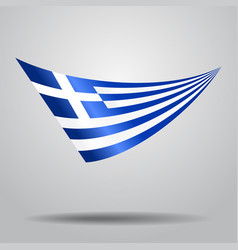 Greek flag background vector