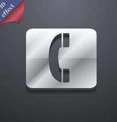 Handset icon symbol 3D style Trendy modern design vector