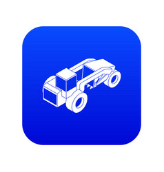 Heavy load truck icon blue vector
