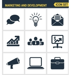 Icons set premium quality of digital marketing vector image