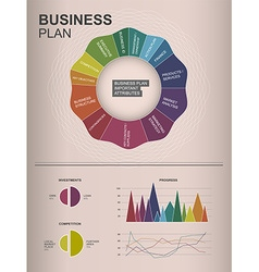 Inforgraphic business plan template for your vector