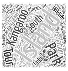 Kangaroo Island An Australian Island Paradise text vector