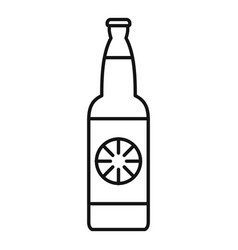 Lemon soda drink icon outline style vector