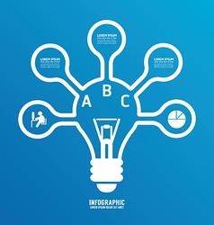 Light bulb line infographics options banner vector