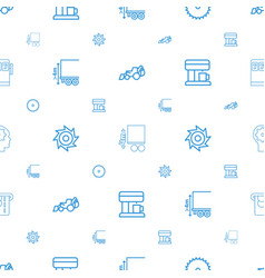 Machine icons pattern seamless white background vector