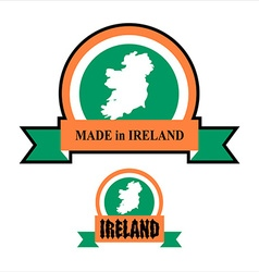 Made in Ireland logo for product Map of Ireland vector image