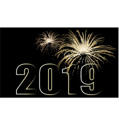 new year background with fireworks vector image