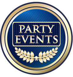 party events gold icon vector image