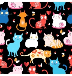 Pattern of different cats vector