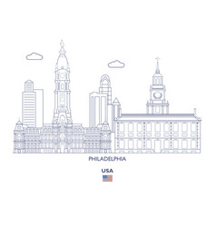 philadelphia city skyline vector image