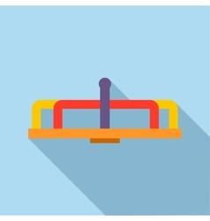 Playground equipment carousel icon flat style vector