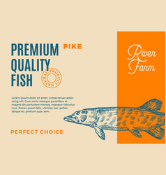 premium quality pike abstract fish vector image