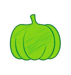 pumpkin sign lemon scribble icon on white vector image