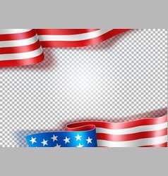 Realistic waving american flag usa symbol vector