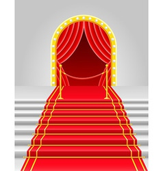 red carpet 04 vector image