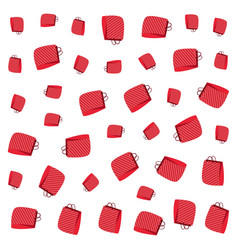 red shopping paper bags background vector image
