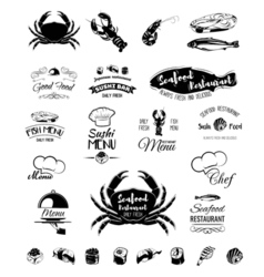 Restaurant menu design Cafe menu cover Seafood vector image